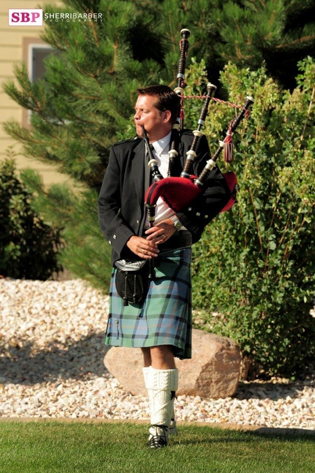 wedding scottish pipes