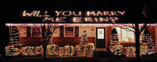 Will You Marry Me in Christmas Lights