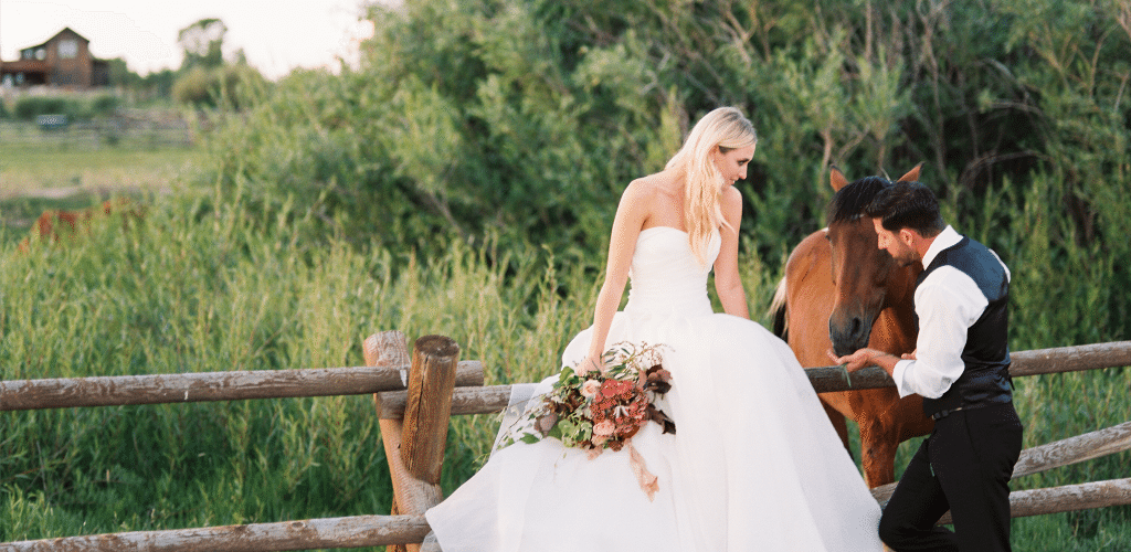 Wyoming ranch wedding