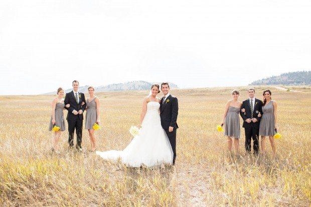 outdoor wedding party photos