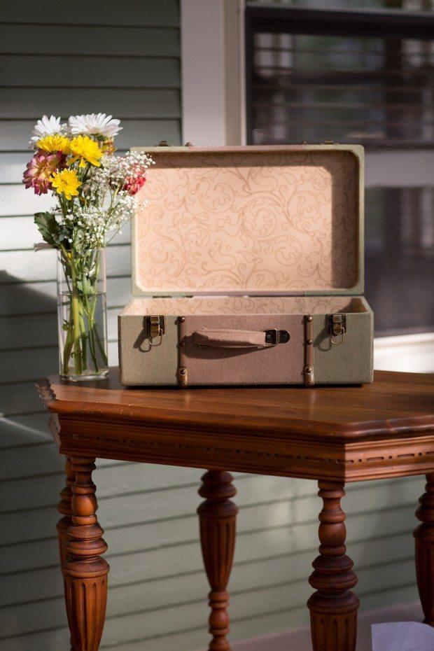 wedding suitcase card box