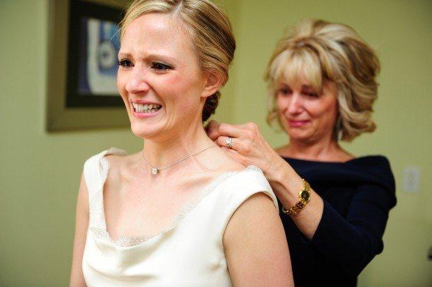 Wedding Bride and Mom