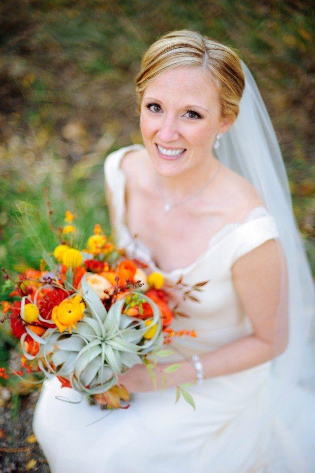 Colorado fall wedding flowers