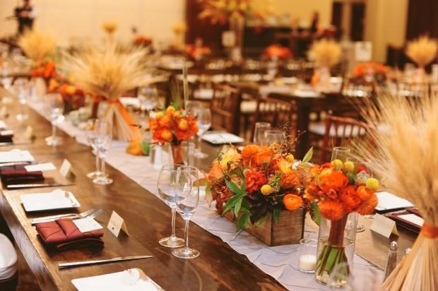 Colorado Fall Wedding Centerpieces