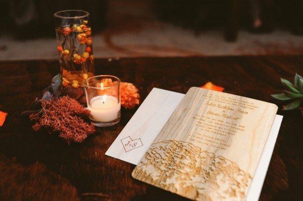Wood Wedding Invitations