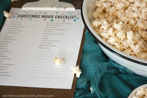 Christmas Movie and Popcorn