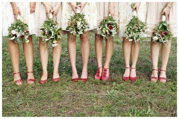 Mismatched Bridesmaid Shoes