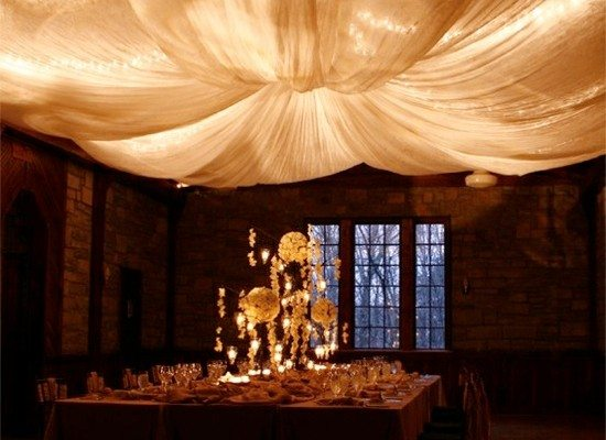 String Lights and Fabric