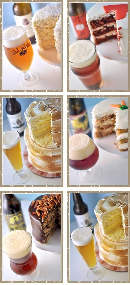 craft beer paired with wedding cake