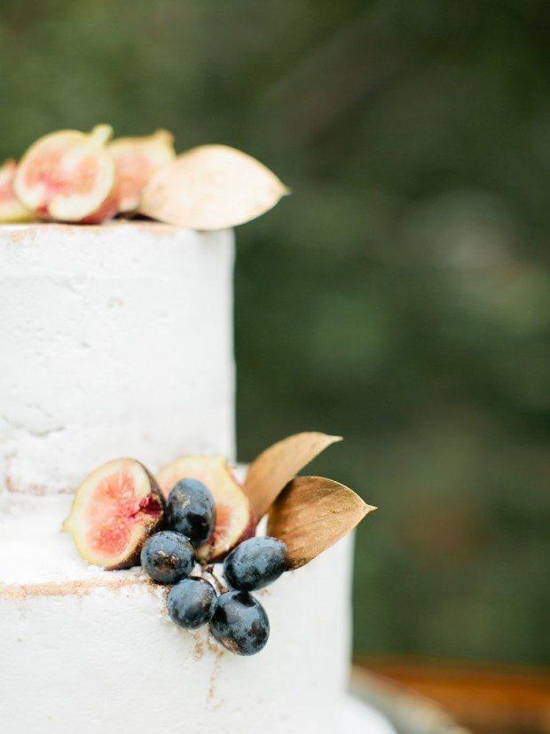 Colorado rustic wedding cake