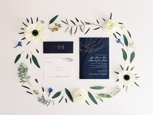 blue winter wedding