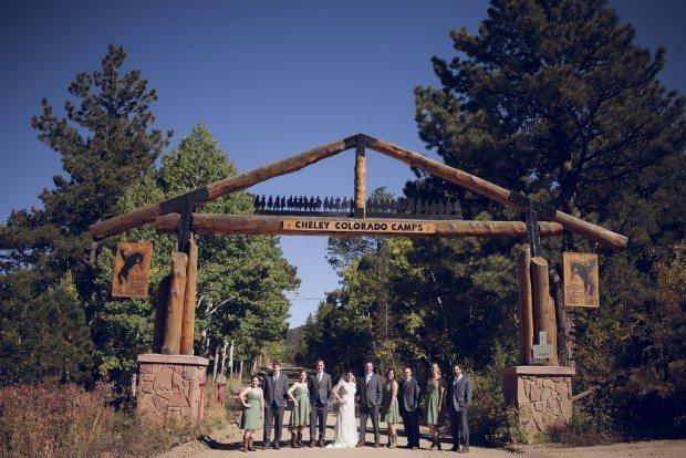Estes Park ouside wedding venue